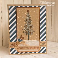 Hello, crafty friends. Today, I am sharing a Christmas card I made using the Thoughtful Branches stamp set  with the new hot trend of copp...