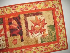 Fall Table Runner fabric from South Sea by PicketFenceFabric, $39.00