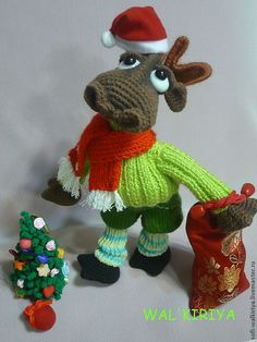 Купить Лосякула - лось, лесные жители, Идея для подарка, Вязание крючком, игрушки ручной работы