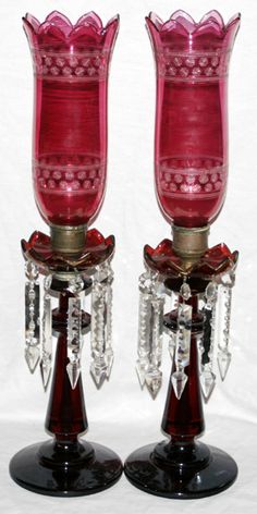 Antique Hurricane Lamps - Ideas on Foter Antique Light Fixtures, Antique Oil Lamps, Antique Lighting, Vintage Lamps, Vintage Glassware, Antique Hurricane Lamps, Glass Hurricane Lamps, Cranberry Glass, Fenton Glass