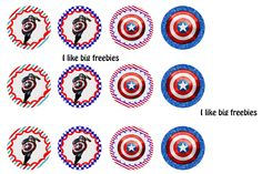 I like big freebies: Captain America bottlecap images