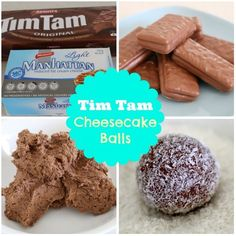 Tim Tam Cheesecake Balls Recipe  Move over rum balls and Oreo truffles… there's a new awesome treat in town – Tim Tam Cheesecake Balls!  These delicious little balls are made with cream cheese and crushed Tim Tims that are then rolled in coconut – how easy is that! #timtams #coconut #chocolate #snacks