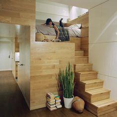 praktische einrichtung-ideen für kleine-räume weiß schrank-leiter, Wohnzimmer dekoo