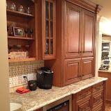 maple glazed cabinets