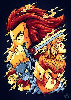 Thundercats by anggatantama on DeviantArt Chibi, Cartoon Art, Cartoon Characters, He Man Thundercats, Thundercats Cartoon, Happy Tree Friends, 90s Cartoons, Character Illustration, Comic Art