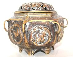 Antique Chinese Bronzed Censer Meditation by AntiqueAlchemyShop Sell On Etsy, Asian, Decoration, Vintage Items, Handmade Items, Alchemy, Chinese, Bronze, Antiques