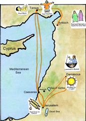 Pauls Journeys Map Wonder If There Is One For St Andrew And Thomas