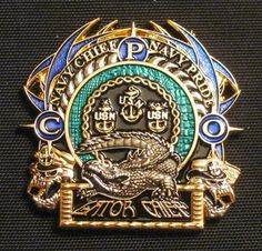 "Amphibious Forces ""Gator Chiefs"" CPO Challenge Coin"