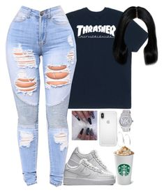"""Untitled #733"" by bosslanaia ❤ liked on Polyvore featuring HUF, NIKE, Speck, Michael Kors and GUESS"