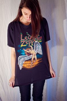 1980's Led Zeppelin classic rock n roll tour by darksatellites, $175.00