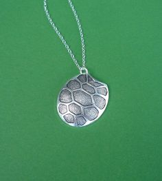 silver tortoise shell necklace by cravejewelrydesign on Etsy, $26.00