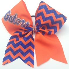 Florida Gators cheer bow by DistinctlyExpressive on Etsy Fla Gators, Florida Gators Softball, Softball Bows, Cheerleading, Cheer Mom, Cheer Stuff, Forever Florida, Gator Game, Football Costume