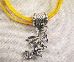 Year of the Dragon, Chinese New Year 2012, Pandora Charm Dragon Pendant on Gold Choker