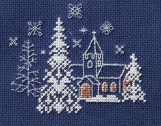 Let it Snow Cross Stitch Christmas Card Kit by Derwentwater Designs, one of a popular range of beautiful Christmas greetings by Rose Swalwell. Cross Stitch Christmas Cards, Cross Stitch Cards, Christmas Cross, Small Cross Stitch, Cross Stitch Designs, Cross Stitch Patterns, Embroidery Stitches, Embroidery Patterns, Crochet Patterns