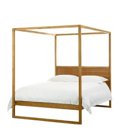 Ibiza four poster bed - Weylandts. Give your room a luxurious fairytale look with the Ibiza Four Poster Bed. Made from carefully selected Plantation Teak, which is left unfinished for a bold, raw look. Curtains To Go, Canvas Curtains, Weylandts, Four Poster Bed, Lighted Canvas, Home Trends, Headboards For Beds, Teak, Beautiful Homes
