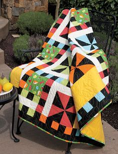 Whirlwind Lap Quilt Pattern Download - free pattern from Connecting Threads.