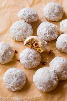 These Toasted Pecan Snowballs made with crunchy Diamond Pecans are the perfect addition to a holiday cookie exchange!