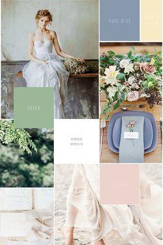 Blau, Beige, Farbcode, Hochzeit, Colour Code Pastel Roses, Blush Roses, Pastel Wedding Theme, Wedding Colors, Pantone Greenery, Wedding Mood Board, Alice In Wonderland Party, Wedding Inspiration, Wedding Ideas