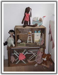 Maileg rabbits and furniture.
