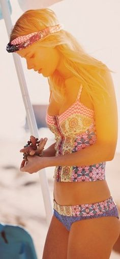 Maaji Swimsuit // Mystic Paths Bustier Bikini Top