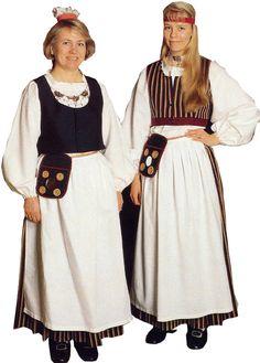 Asikkalan naisen kansallispuku. Kuva © Wetterhoff Oy Folk Clothing, Historical Clothing, Traditional Fashion, Traditional Dresses, Folk Costume, Costumes, People Of The World, Helsinki, How To Wear