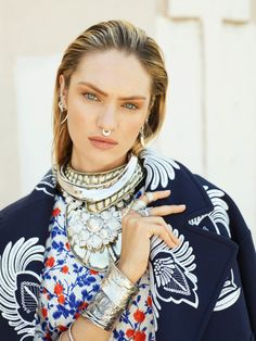 Candice Swanepoel Sports Rock Style for Vogue Russia by David Mushegain | Fashion Gone Rogue: The Latest in Editorials and Campaigns