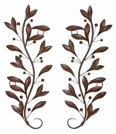 Vertical Metal Wall Art sepia scroll metal wall art | metal walls, metals and over the