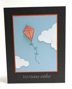 Palmtrees and Pogosticks- birthday card, kite, sky, pti
