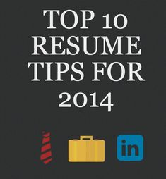 Resume Tips to Get a Job Next Year!