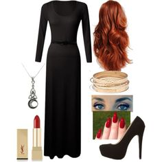 Rowena ~Supernatural~ by abbey-jp on Polyvore featuring Charlotte Russe, Madewell, Carolina Glamour Collection, Yves Saint Laurent and INDIE HAIR