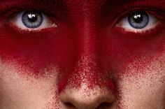 Red Color Makeup on Face of beauty Girl with pink Lips on Behance Photo Texture, Visual Texture, Red Makeup, Makeup Art, Natural Sunscreen, White Teeth, Tan Skin, Pink Lips, Red Color