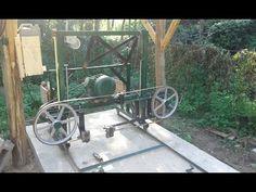 Bandsaw mill building part1//Villanymotoros fekvő szalagfűrész - YouTube