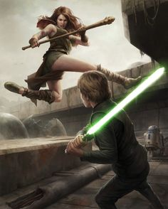 Luke fighting Teneniel Djo in the Ruins of the Chu'unthor. Just look at those poses! Awesome!