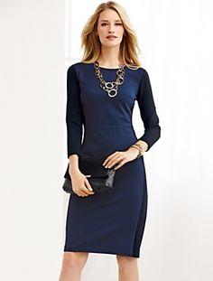 Talbots - Colorblocked Ponte Dress | Dresses |