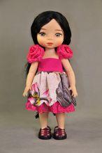 16 pulgadas Salon muñecas antiguo ropa inteligente de cerámica de 40 cm de algodón y lino del estilo chino del vestido ( para la muñeca ropa )(China (Mainland))