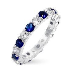 Sapphire Diamond Eternity Band at Orly Diamonds
