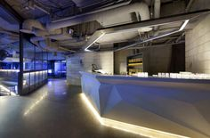 Bar at Club Octagon in Seoul Korea designed by  Urbantainer
