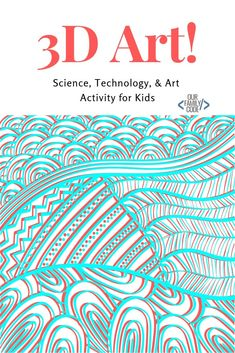 Learn how to draw images and make anaglyph artwork and grab some free art worksheets! Kids Learning Activities, Spring Activities, Teaching Kids, Toddler Crafts, Preschool Crafts, Projects For Kids, Crafts For Kids, Art Worksheets, 3d Drawings