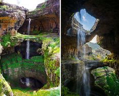 Jurassic period limestone, 3 mysterious bridges, and a massive waterfall. The Cave of Three Bridges in Lebanon might be one of the coolest places on earth.