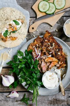 Quick Braaied Lamb Shwarmas: lamb chops make the ultimate shawarma topping. Braai Recipes, Lamb Recipes, Meat Recipes, Shawarma Grill, Food Obsession, Lamb Chops, International Recipes, Food Preparation