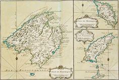 antique maps europe: Isle de Majorque, Isle de Minorque et Carte de l'Isle de Yvice