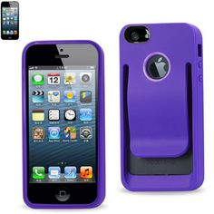 Belt clip Polymer case For iPhone 5 PURPLE