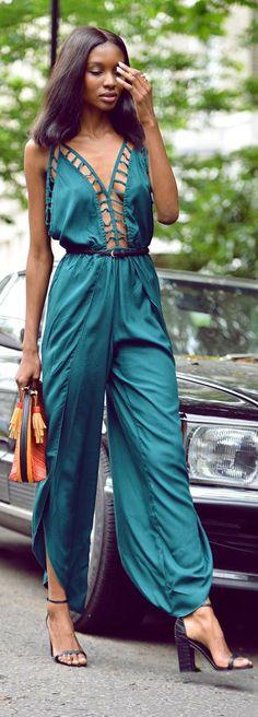 Zimbabwean born model and blogger Bisous Natasha. Street style fashion: ✯Indah Jumpsuit✯ Bisous Natasha