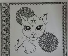 Mandala and cat :)