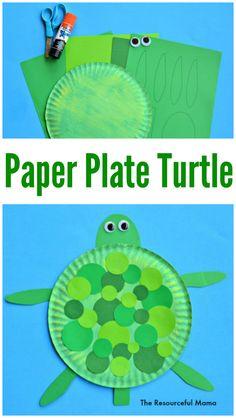 Paper Plate Turtle Craft Paper Plate Turtle Craft Kinder Stuff Crafts For Kids Turtle Babysitting Activities, Craft Activities For Kids, Projects For Kids, Spanish Activities, Craft Kids, Art Projects, Daycare Crafts, Classroom Crafts, Toddler Crafts