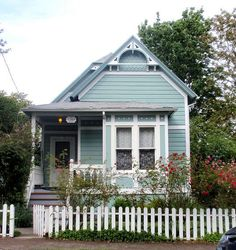Blue aqua Victorian cottage...J.F. Lawler historic home | Flickr - Photo Sharing!