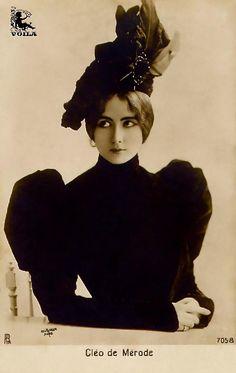 Victorian bondage dance photography, cléo de, cleo de, de merod, victorian fashion, de mérode, the artist, belle epoque, hat