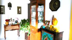 Bright, Indian, Living Room corner, Designed and Styled by Niyoti