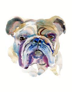 Custom Pet Portrait Pet Portrait Watercolor by Coconuttowers