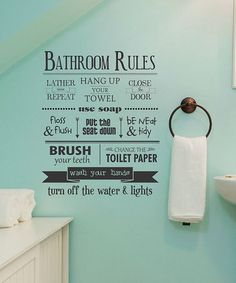 Look at this #zulilyfind! 'Bathroom Rules' Wall Quotes™ Decal #zulilyfinds
